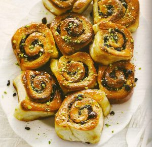 Cardamom scented chelsea buns